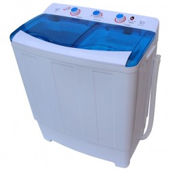 Masina de spalat rufe semiautomata MYRIA MYR78, spalare 7.8Kg, stoarcere 6Kg, alb-albastru
