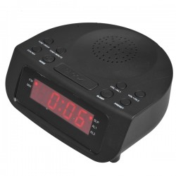 MYRIA MF394 Alarm clock radio, FM/MW, black