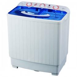 Masina de spalat rufe semiautomata MYRIA MYR60, spalare 6Kg, stoarcere 5.3Kg, alb-albastru