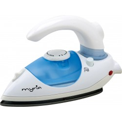 MYRIA MY4506, Travel steam iron, 800W, white-blue