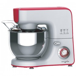 MYRIA MY4121 Stand mixer with 12 speed levels, pulse function, 1000W, white-red