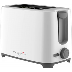 MYRIA MY4016WH Toaster, 2 slices, 700W, white