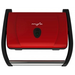 MYRIA MY4004 Panini Toaster, 1600W, red