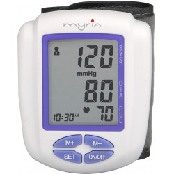 MYRIA MY4810 Wrist blood pressure monitor, 120 memory locations