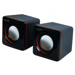 MYRIA MY8007 Speakers, 2.0, 6W, black