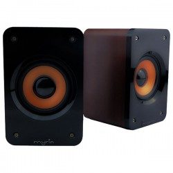 Speakers MYRIA MY 8002, 2.0, 5W, brown
