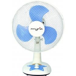 Ventilator de masa MYRIA MY4201, alb-albastru