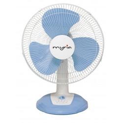 Ventilator de masa MYRIA MY4207, alb-albastru