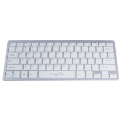 Tastatura Wireless MYRIA MY8060, USB, alb-argintiu