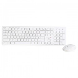 Kit tastatura si mouse fara fir MYRIA MY8520, USB, alb