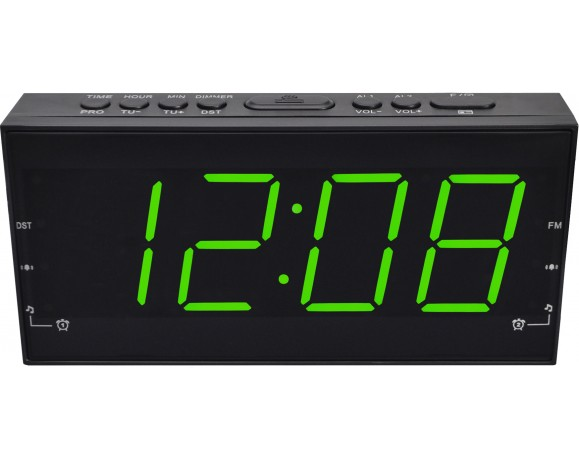 Ceas Digital Cu Alarma Si Radio Fm Myria My2607gr Negru