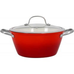 MYRIA MY4175 Light cast iron cooking pot, 26cm, 5l, red-silver