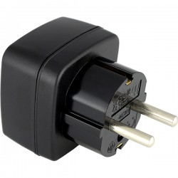 MYRIA MY2334 UK-EU Plug adapter, 3500W, black