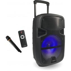 Boxa portabila MYRIA MY2613, Bluetooth, 30W, microfon wireless, telecomanda, negru