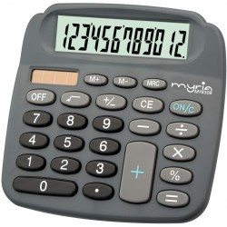 Calculator de birou MYRIA MY8308, 12 cifre, gri