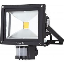 Proiector LED cu senzor de miscare MYRIA MY2241, 30W, A+, negru