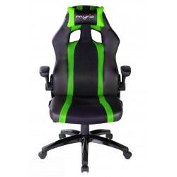 Scaun gaming MYRIA MG7406GR, negru-verde